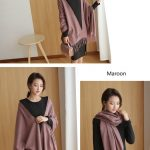 Cheap Soft Wool Scarf Shawl with Tassel208904