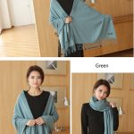 Cheap Soft Wool Scarf Shawl with Tassel237354