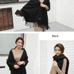 Cheap Soft Wool Scarf Shawl with Tassel294855