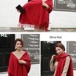 Cheap Soft Wool Scarf Shawl with Tassel298205