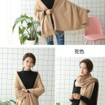 Cheap Soft Wool Scarf Shawl with Tassel304392