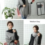 Cheap Soft Wool Scarf Shawl with Tassel311970