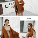 Cheap Soft Wool Scarf Shawl with Tassel329882