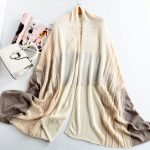 Fashion women knitted shawl 100% cashmere poncho167396